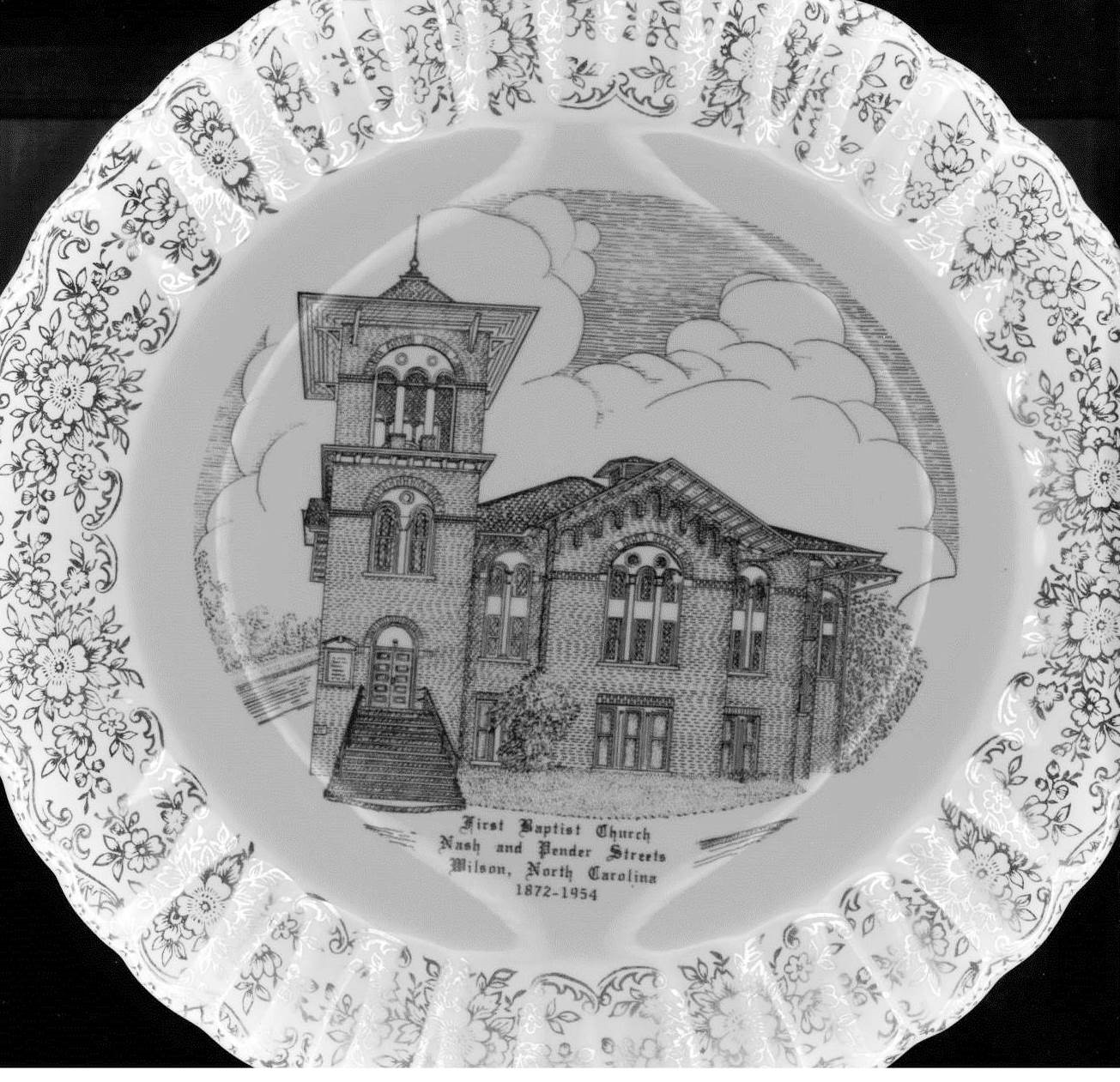 Jackson Chapel First Baptist Church Commemorative Plate