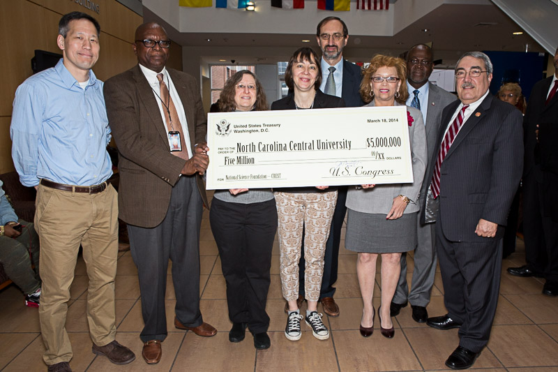 Congressman Butterfield presenting a check to North Carolina Central University