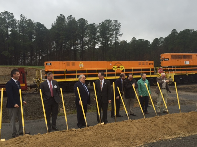 Butterfield joins local leaders in the goundbreaking ceremony for the NC-VA TIGER project