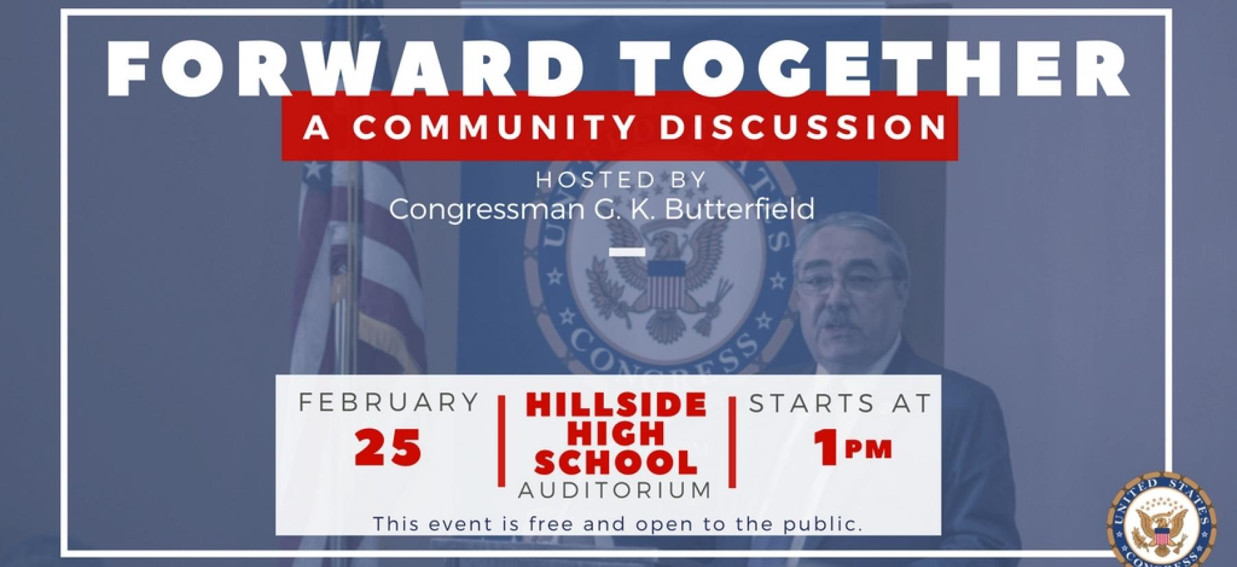 Rep. Butterfield Hosts a Community Discussion