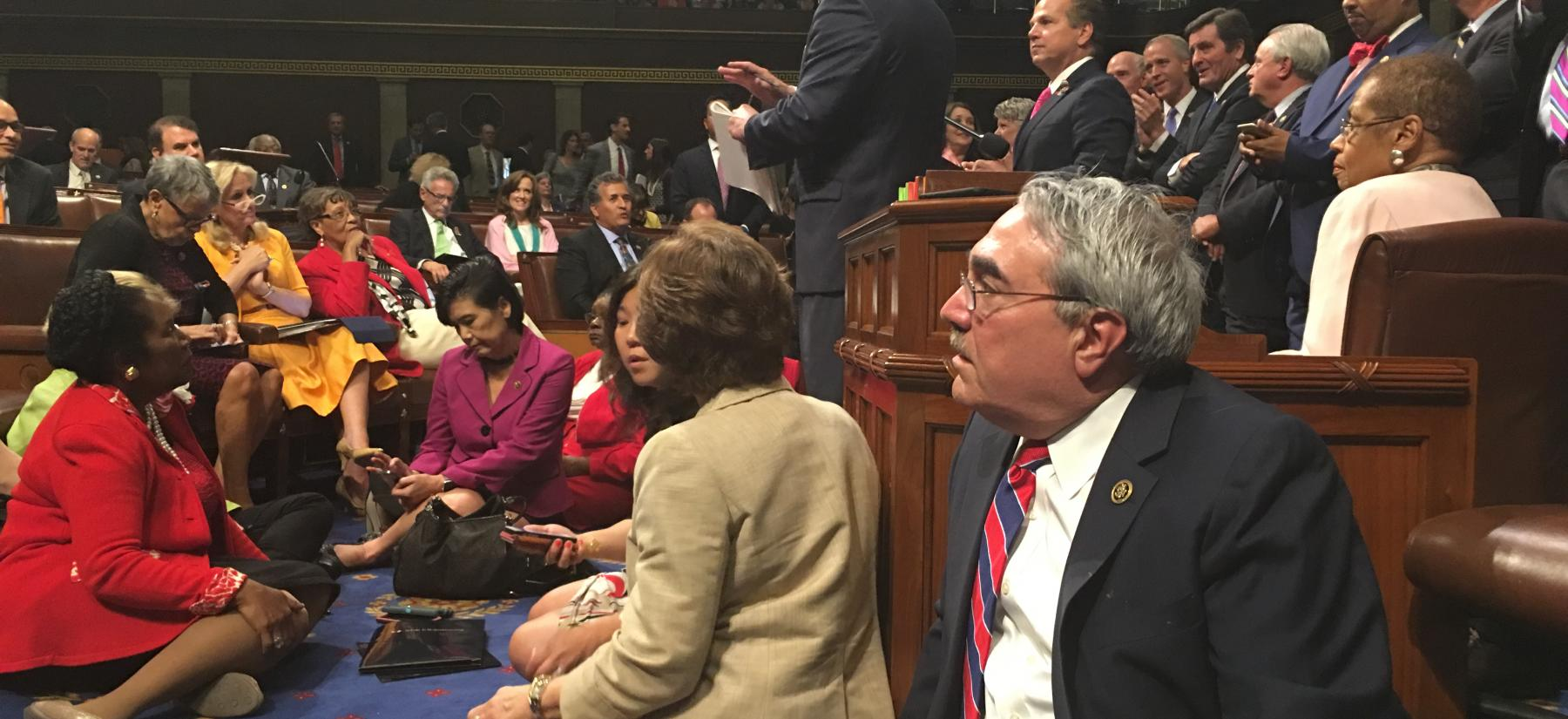 House Democrats' 26-hour sit-in on the House Floor to protest to demand action on gun violence