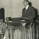 Congressman Butterfield's father speaking at Shaw University in 1953