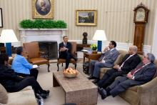 Congressman Butterfield meeting with President Obama