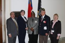 Congressman Butterfield with American Legion NC
