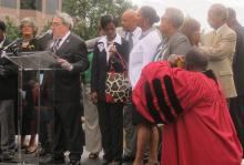 Congressman Butterfield participating in Moral Monday protests