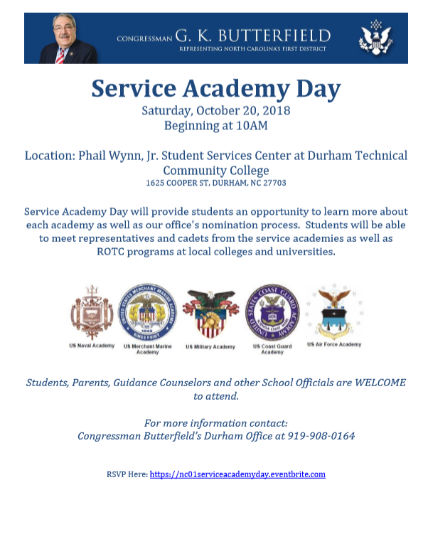 Rep Butterfield Service Academy Day