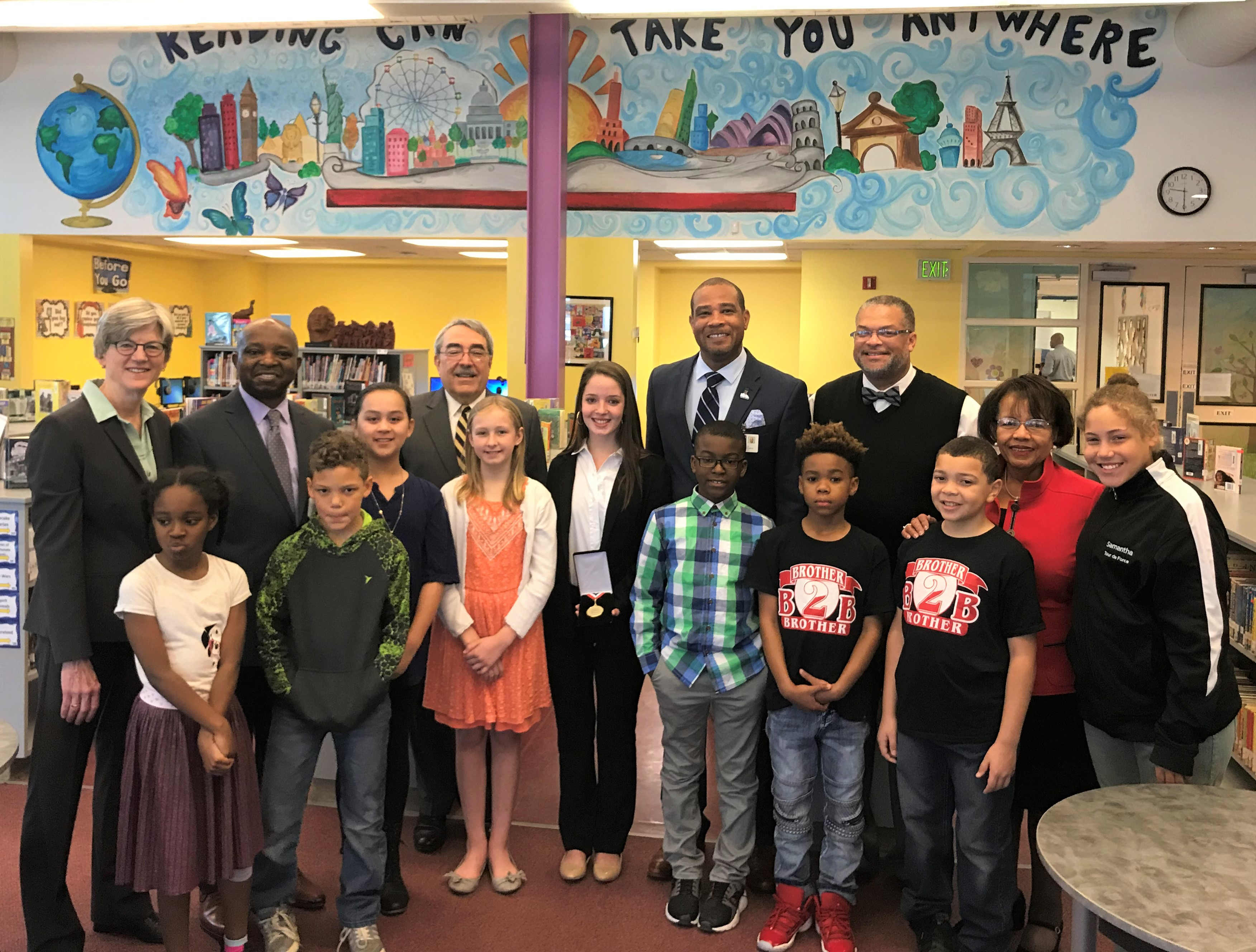 Congressman Butterfield Visits Students at Pearsontown Elementary School in Durham