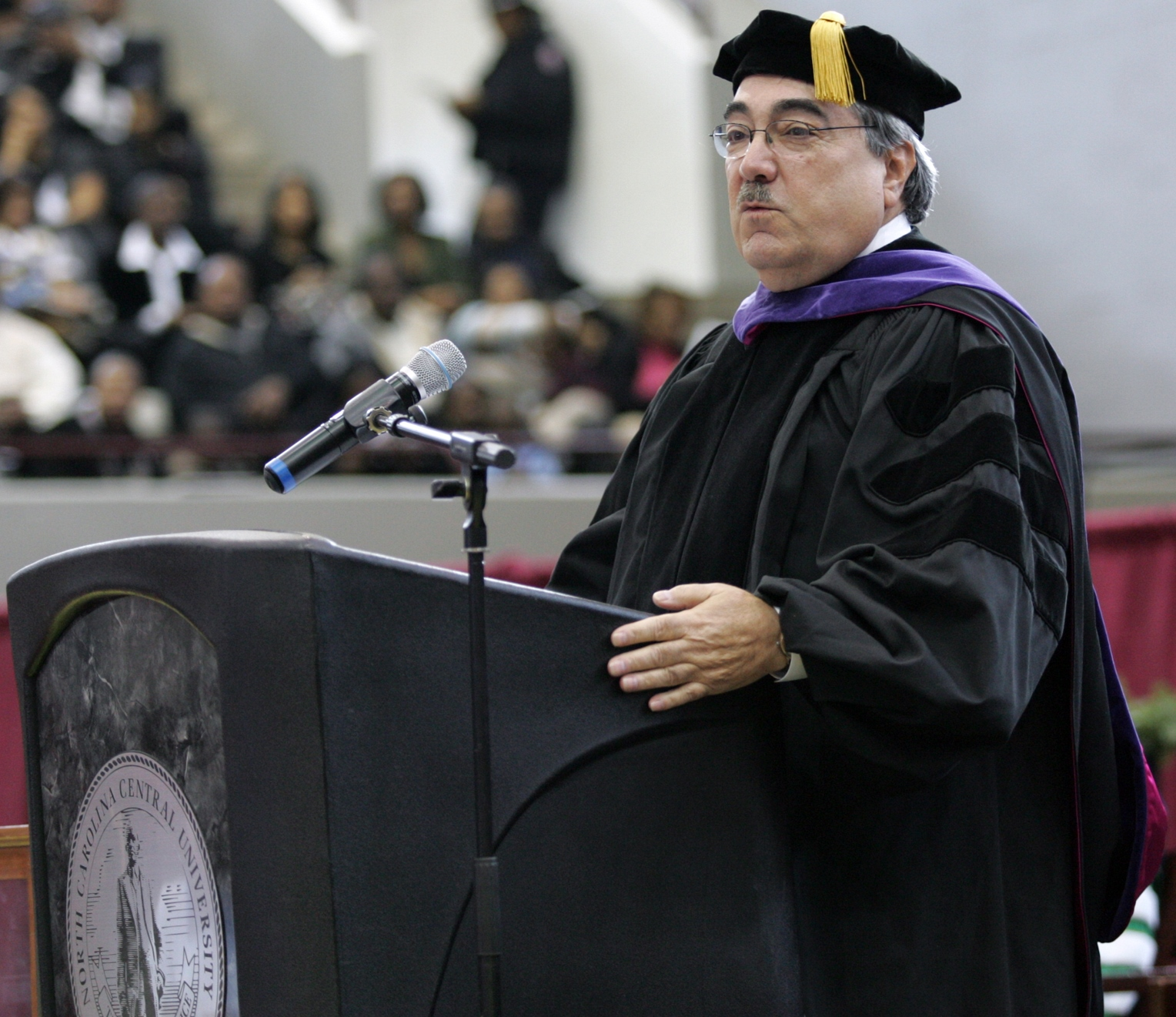 Congressman Butterfield speaking at the North Carolina Central University Commencement